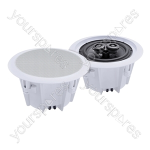 e-audio 2-Way Round Ceiling Speakers With Twin Offset Tweeters - Size 8 inch