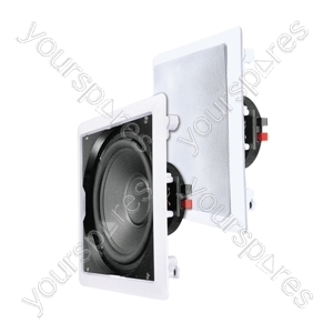 """e-audio White 12"""" In-Wall or Ceiling Subwoofer With Coaxial Driver 8 Ohms 180W"""