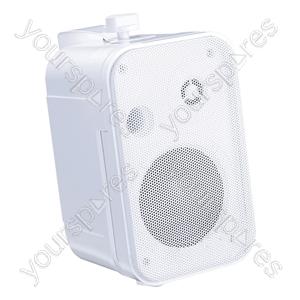 "e-audio 3.5"" 2 Way Mini Speakers (8 Ohms 100 W) - Colour White"
