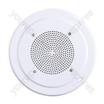 """100V Line 8"""" Vandal Resistant Round Ceiling Speaker With Metal Grille"""
