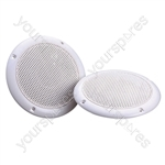 "e-audio 40w 5"" Round Ceiling Speaker With Dual Moisture Resistant Cone - Impedance (Ohms)  16"