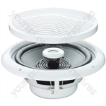 "e-audio White 5"" 80W 2-Way Moisture Resistant Ceiling Speakers - Impedance (Ohms)  4"
