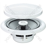 "e-audio White 5"" 80W 2-Way Moisture Resistant Ceiling Speakers - Impedance (Ohms)  8"