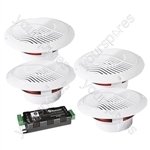 e-audio 4 Way Bluetooth Ceiling Speaker Kit