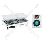 """e-audio White 6.5"""" 2-Way 120W In-Wall Speaker With Driver and Tweeter"""
