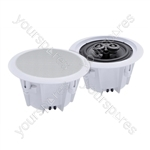 e-audio 2-Way Round Ceiling Speakers With Twin Offset Tweeters