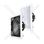 "e-audio White 12"" In-Wall or Ceiling Subwoofer With Coaxial Driver 8 Ohms 180W"