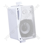 "e-audio 3"" 3-Way Background Music Speakers With Brackets 80W 4 Ohm - Colour White"