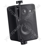"e-audio 3"" 3-Way Background Music Speakers With Brackets 80W 4 Ohm - Colour Black"