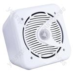 "e-audio 5.25"" 2-Way Mini Box Speakers - Colour White"
