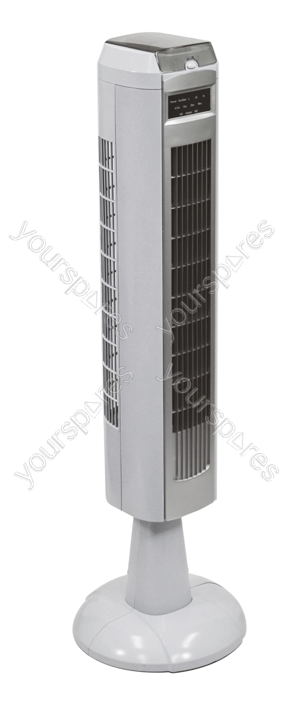 Tower Fan manual With Timer Ioniser silver White Bmt014d