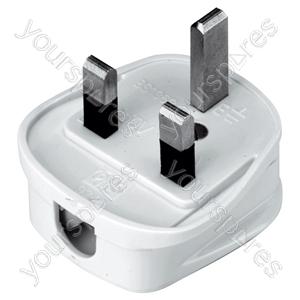 Quickfit 3 Pin UK Plug Top - Colour White