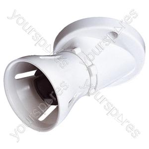 T1 Batten Angled 3 Terminal Lamp Holder HO Skirt 60W