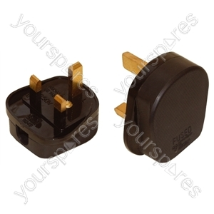 Impact Resistant 3 Pin UK Plug Top - Colour Black