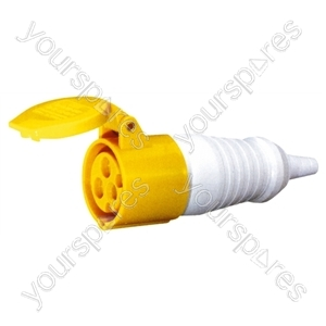 110 V Yellow 16 A 3 Contact High Current In-line Socket