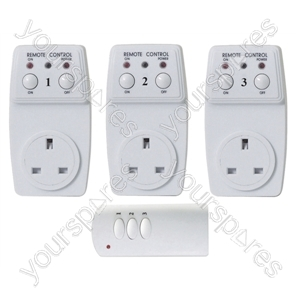 Wireless Plug-In Remote Control  Sockets (3)