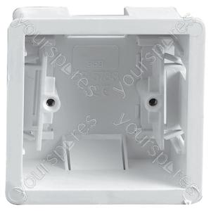 Single Gang Clip In Dry Lining Socket Box 35mm