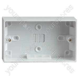2 Gang Surface Socket Box 30mm