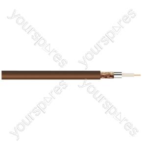 Standard Digital RG6U Satellite 75 Ohm Cable - Colour Brown