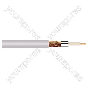 Standard Digital RG6U Satellite 75 Ohm Cable - Colour White