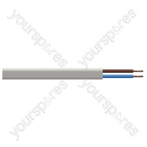 Oval 2 Core 0.5mm PVC Flex 3A 2192Y 100m - Colour White