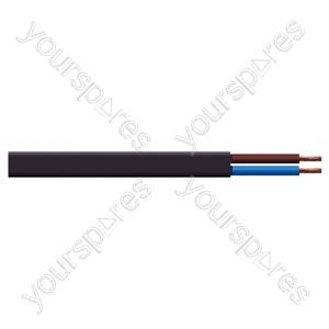 Oval 2 Core 0.75mm PVC Flex 5A 2192Y (100m) - Colour Black