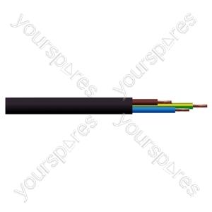 Round 3 Core 0.5mm PVC Flex 3A 2183Y - Colour Black