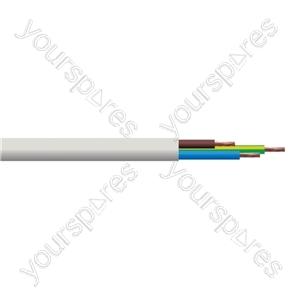 Round 3 Core 0.5mm PVC Flex 3A 2183Y Hank - Lead Length (m) 5