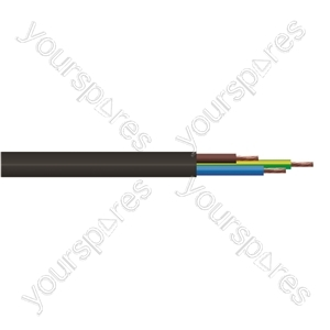 Round 3 Core 0.5mm PVC Flex 3A 2183Y Hank - Lead Length (m) 5
