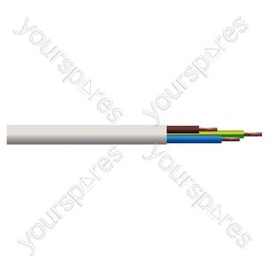 Round 3 Core 0.75mm PVC Flex 6A 3183Y - Colour White