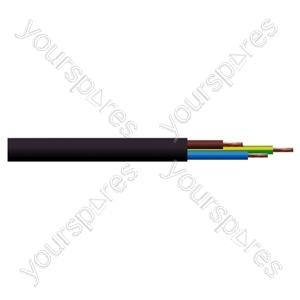 Round 3 Core 0.75mm PVC Flex 6A 3183Y - Colour Black
