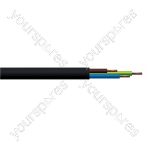 Round 3 Core 1.mm PVC Flex 10 A 3183Y - Colour Black