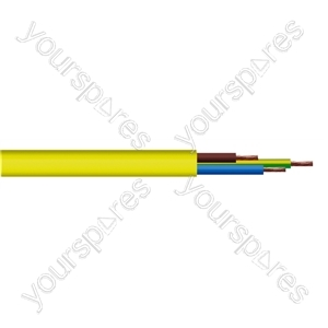 Round 3 Core 1.5mm Arctic Grade  Flex 15A 3183YG  - Colour Yellow