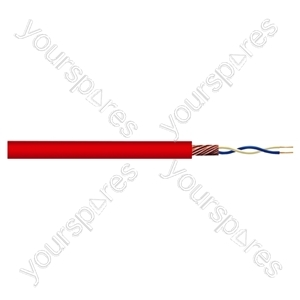 2 Core Screened Microphone Cable - Colour Red