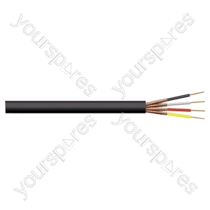 4 Core Round Individually Screened Cable - Colour Grey