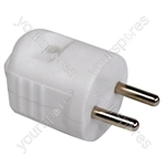 Eagle 2 Pin White Rewireable Euro 2P Plug