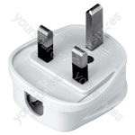 Quickfit 3 Pin UK Plug Top - Colour White