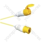 16 A High Current Extension Lead with Yellow 2.5mm Cable - Length (m) 10
