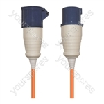 16 A High Current Extension Lead with Orange 1.5mm Cable - Length (m) 10