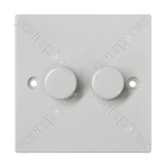 2 Gang 1 Way Rotary Dimmer Switch (250 W max.)