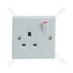 Single Gang Switched 13 A Socket