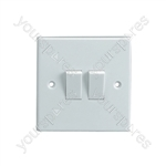 2 Way 2 Gang Light Switch 5A