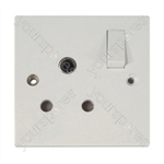 Round Switched 15 A Socket
