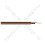 Standard Digital RG6U Satellite 75 Ohm Cable - Colour Brown