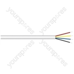 4 Core Security/Signal Cable - Colour White