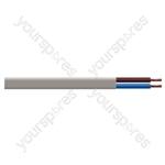 Oval 2 Core 0.75mm PVC Flex 5A 2192Y (100m) - Colour White