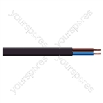 Oval 2 Core 0.75mm PVC Flex 5A 2192Y (100m) - Colour Black