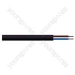 Round 2 Core 0.5mm PVC Flex 3 A 2182Y - Colour Black