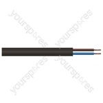 Round 2 Core 0.5mm PVC Flex 3A 2182Y Hank 5 m - Colour Black