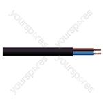 Round 2 Core 0.75mm PVC Flex 6 A 2182Y - Colour Black
